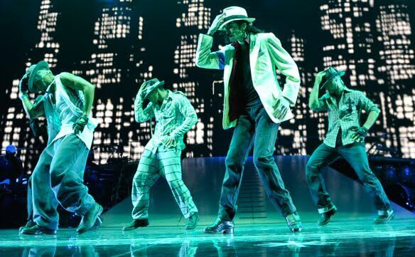 This Is It Michael Jackson dancing on stage