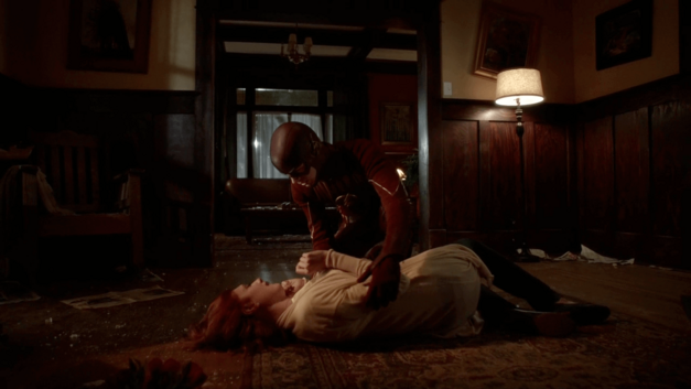 Nora Allen dying on floor of house in The Flash