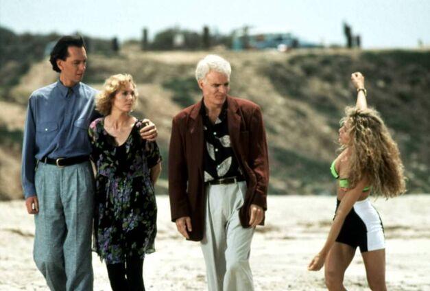 L.A. STORY, Richard E. Grant, Victoria Tennant, Steve Martin, Sarah Jessica Parker, 1991
