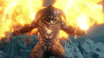 Fighting a Balrog in 'Middle-Earth: Shadow of War'