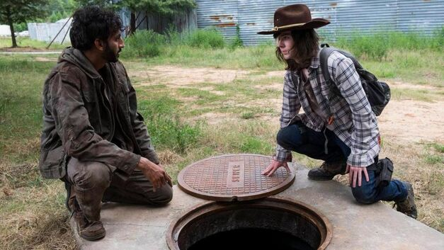the walking dead season 8 siddiq carl grimes