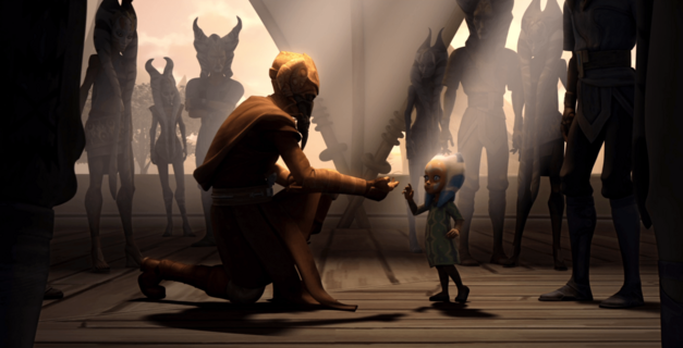 "Star Wars: The Clone Wars, ""The Gathering"": Plo Koon meets Ahsoka Tano"