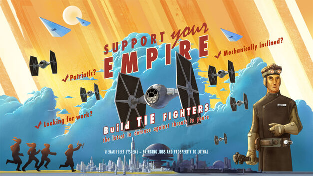 Star Wars propaganda poster Sienar Fleet Systems