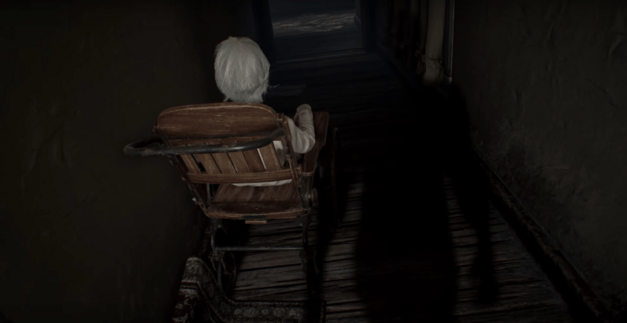A woman in a wheelchair as seen in a REsident Evil 7 trailer
