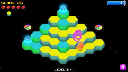 Q*bert Rebooted arcade app
