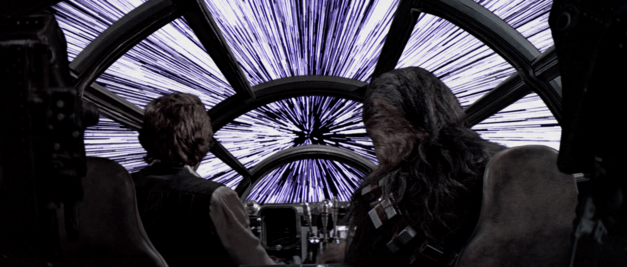 star wars hyperspace falcon