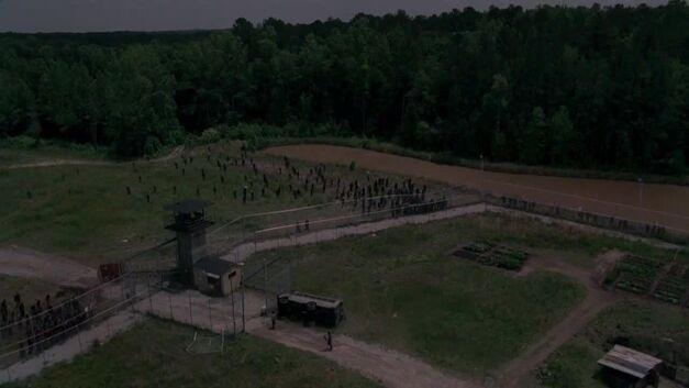 TWD - Prison Aerial Image