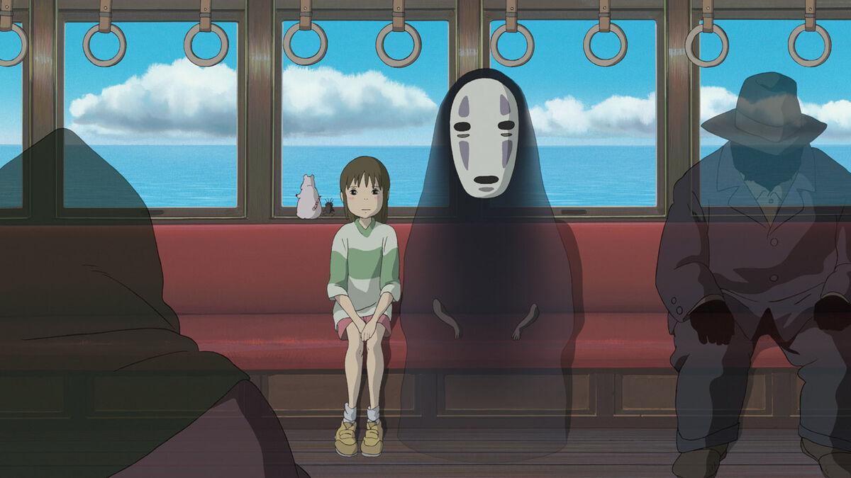 Chihiro and No-Face, Spirited Away