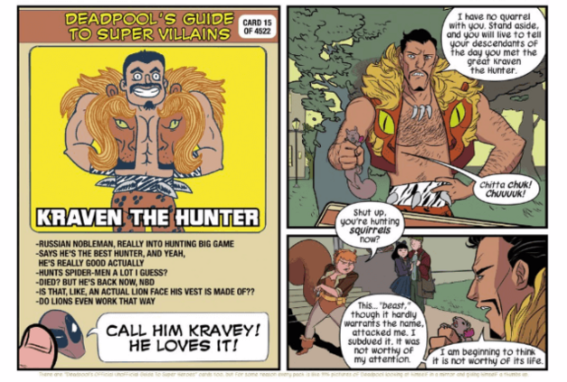 Kraven Deadpool Card from Squirrel Girl