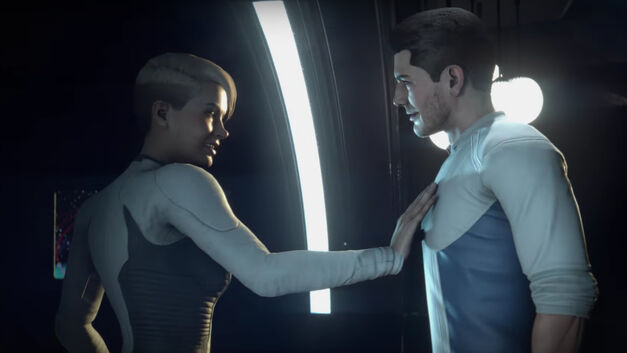 Cora and Scott flirting Mass Effect Andromeda