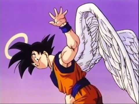 Goku waving goodbye to everyone