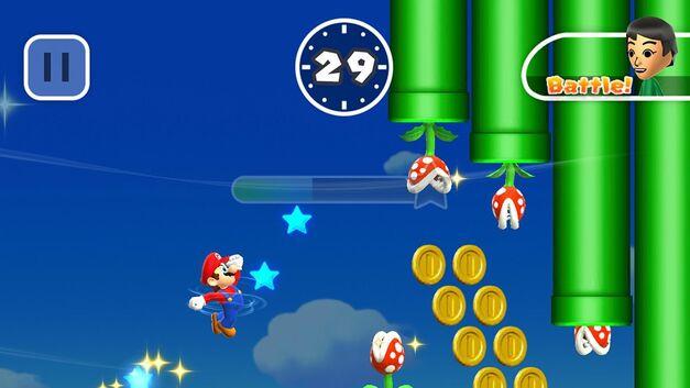 A screenshot of Rally Mode in Super Mario Run.