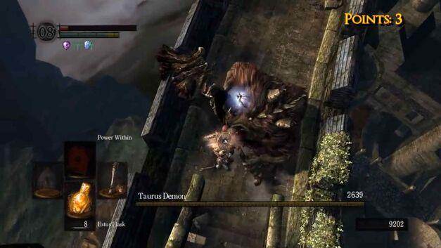 Plunging attack Taurus Demon