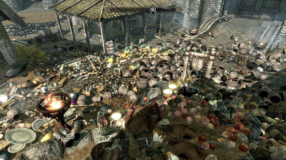 Skyrim Winterhold All Items Loot