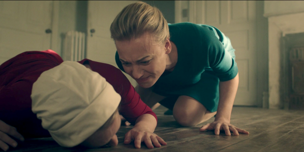 Serena Joy yells at Offred on The Handmaid's Tale