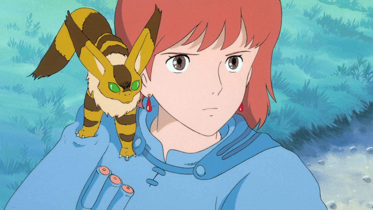 Nausicaa of the Valley of the Wind with fox-squirrel