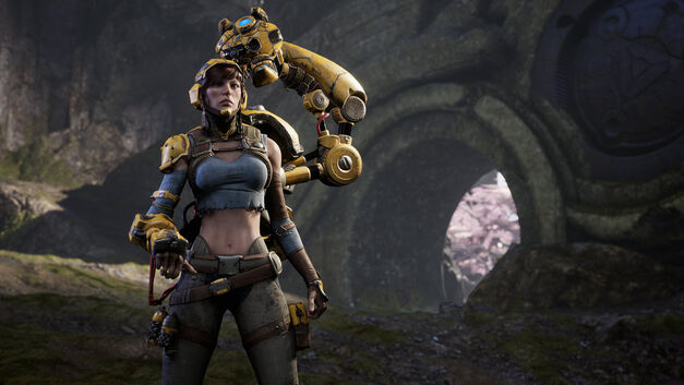 Screenshot of a female 'Paragon' character