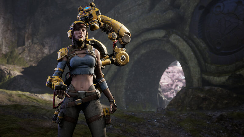 Screenshot of a female 'Paragon' character