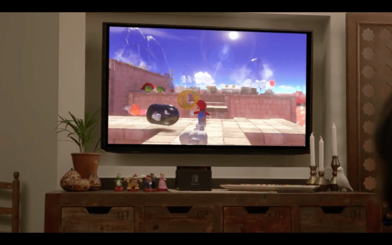 Nintendo Switch Joy-Con Controller Mario Game Reveal