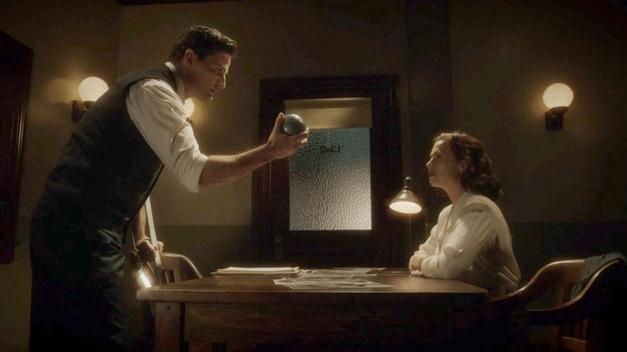 Agent-Carter-Daniel-Sousa-interrogates-Peggy-Carter