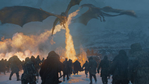 game of thrones dragons white walkers eastwatch