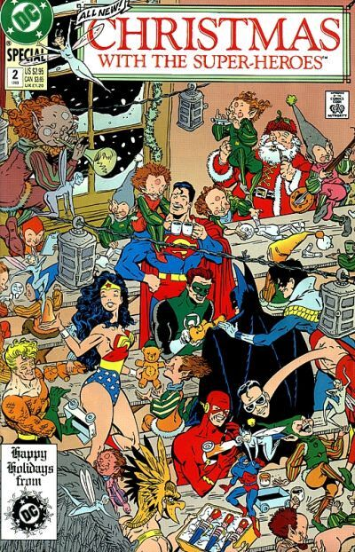 """Christmas With the Super-Heroes"" #2 cover art"