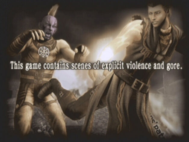 A screenshot of God Hand for the PlayStation 2.