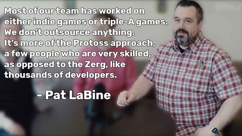 Pat LaBine of Enjin explains the philosophy of having a few very skilled people.