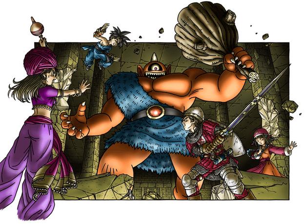 Dragon Quest IX Battle Artwork