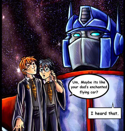 Harry Potter Meets Prime by lady-cybercat http://lady-cybercat.deviantart.com/art/Harry-Potter-Meets-Prime-12893856