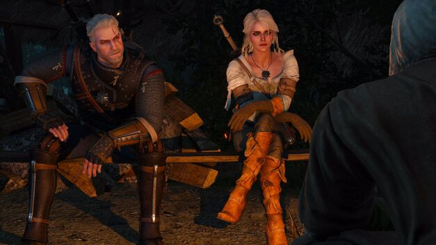 Geralt and Ciri in the Witcher 3