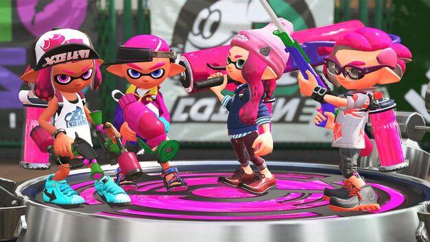 A screenshot of Splatoon 2 for the Nintendo Switch.
