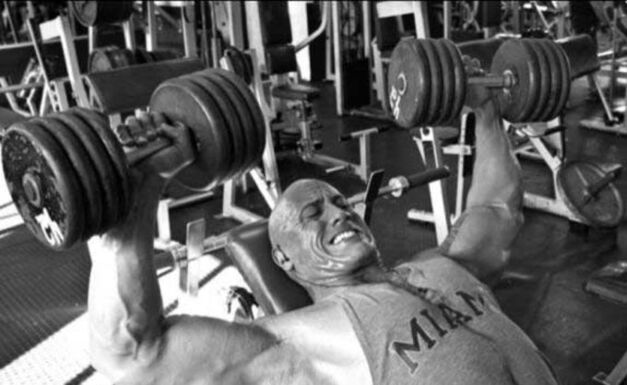 the rock working out b&w