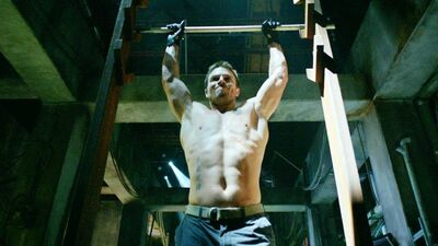 Stephen Amell Drops Arrow's Salmon Ladder for the American Ninja Warrior Course
