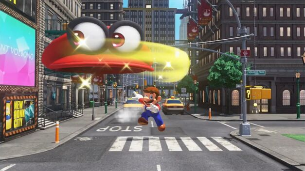 Super Mario Odyssey will feature more than one mid-air throw with Cappy