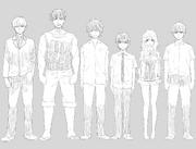 春場蔥 創作作品的系列主角插畫(2017年2月15日)