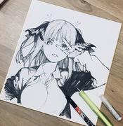 中野二乃 書店用簽繪板(2018年11月8日)