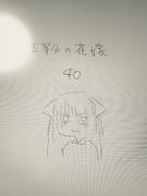 中野二乃 原稿結束插畫(2018年5月8日)