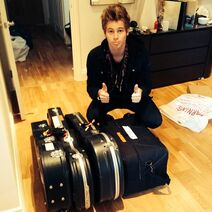 Luke hemmings suitcase