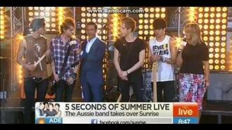 5 Seconds of Summer - Don't Stop (Live on Sunrise)