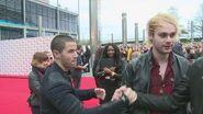 Radio 1 Teen Awards- Nick Jonas 'interview bombs' 5 Seconds of Summer