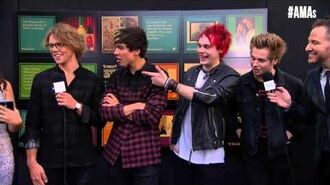 5 Seconds of Summer Red Carpet Interview - AMAs 2014