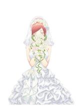 5toubun anime bride art