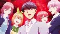 EP8 Miku & Fuutarou & Yotsuba & Itsuki & Ichika left out Nino