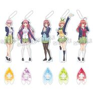 5Toubun Keychain from Animaru - All Nakano Quintuplets