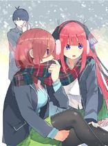 Fuutarou, Nino & Miku chapter 7 special color art