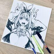 Negi Haruba's Yotsuba illustration Nov 2018