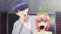 EP8 Fuutarou & Yotsuba tries Miku's cooking