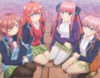 EP7 kneeling Miku, Itsuki, Nino, Ichika stitch