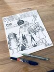 Negi Haruba's Fuutarou and quintuplets children illustration